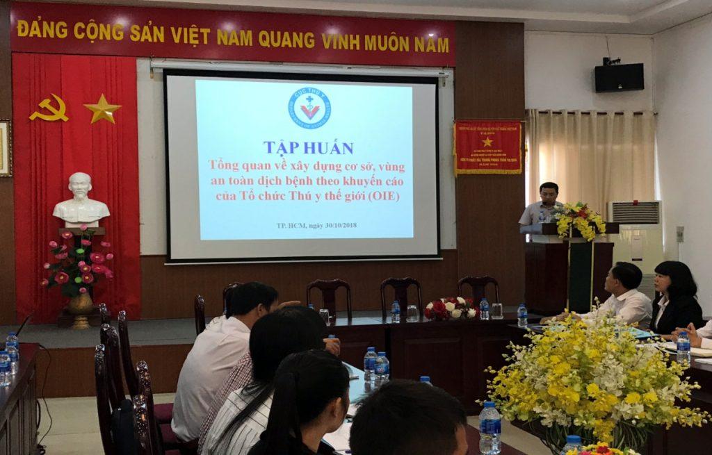 Ông Bùi Huy Hoàng, Phó Chi cục trưởng Chi cục Thú y vùng VI phát biểu khai mạc